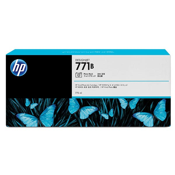 HP 771A 775ml Light Cyan Designjet Ink Cartridge 3-Pack