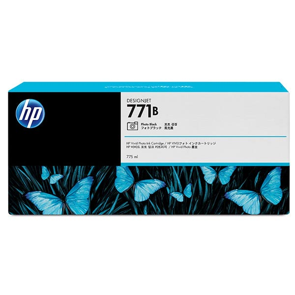 HP 771A 775ml Photo Black Designjet Ink Cartridge 3-Pack