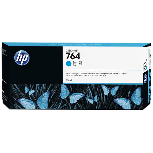 HP 764 300-ml Cyan Ink Cartridge