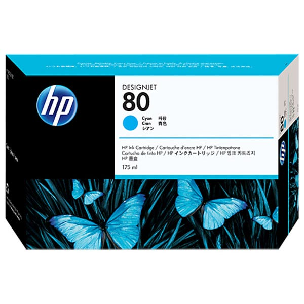 HP 80 Cyan Ink Cartridge (175 ml)