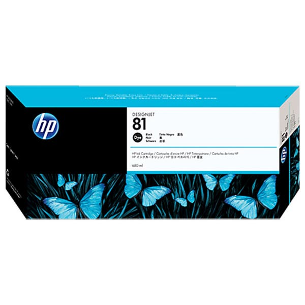 HP 81 Black Dye Ink Cartridge (680 ml)