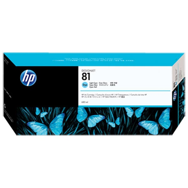 HP 81 Light Cyan Dye Ink Cartridge (680 ml)