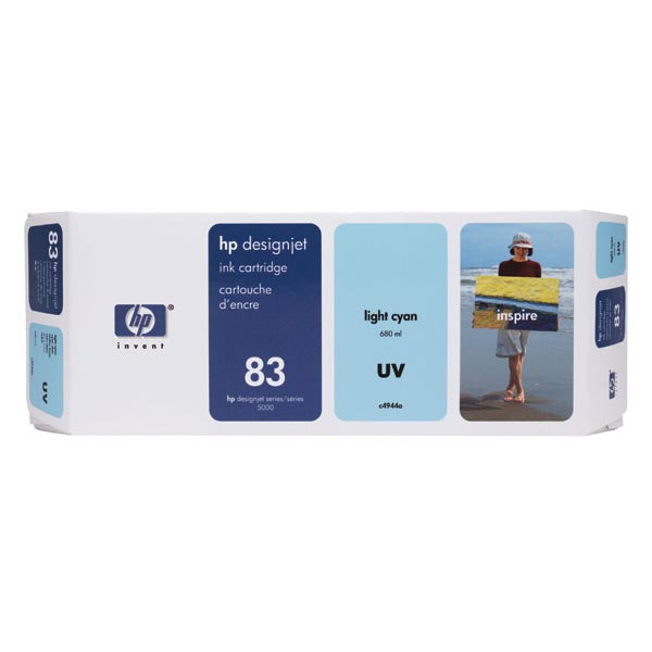 HP 83 Light Cyan UV Ink Cartridge (680 ml)