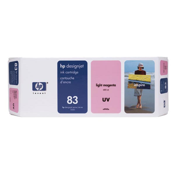 HP 83 Light Magenta UV Ink Cartridge (680 ml)