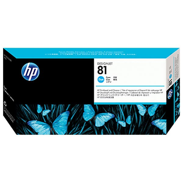 HP 81 Cyan Dye Printhead and Cleaner