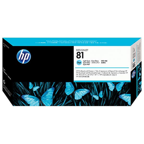 HP 81 Light Cyan Dye Printhead and Cleaner