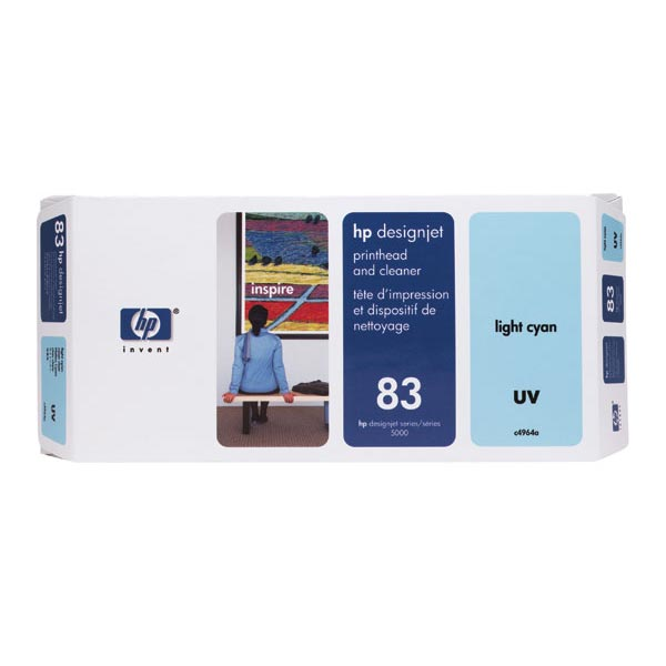 HP 83 Light Cyan UV Printhead/Cleaner