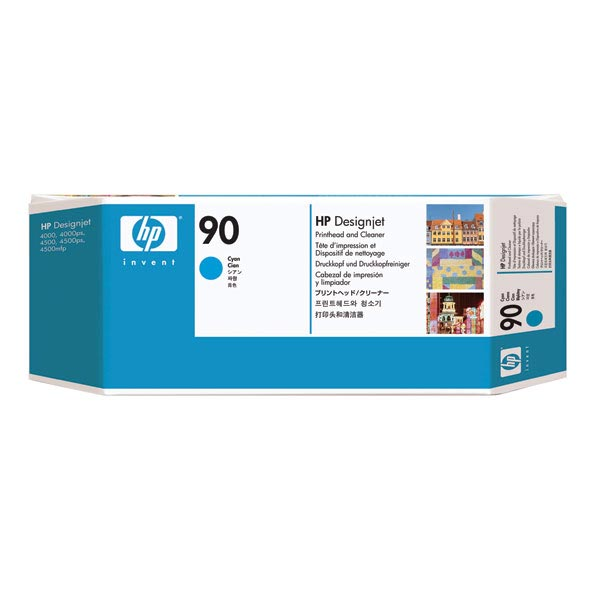 HP 90 Cyan Printhead/Printhead Cleaner