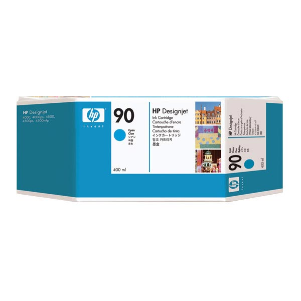 HP 90 Cyan Ink Cartridge (400 ml)