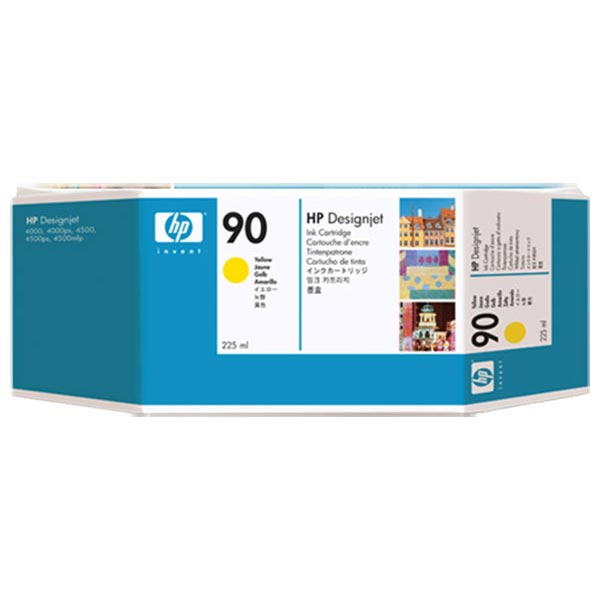 HP 90 Yellow Ink Cartridge (225 ml)