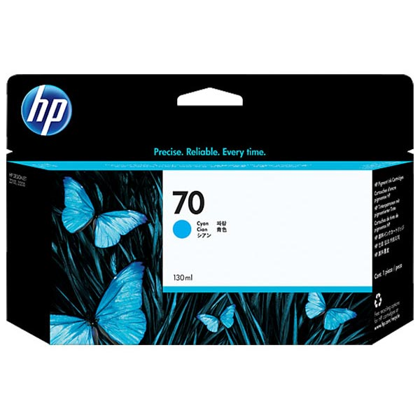 HP 70 Cyan Ink Cartridge (130 ml)