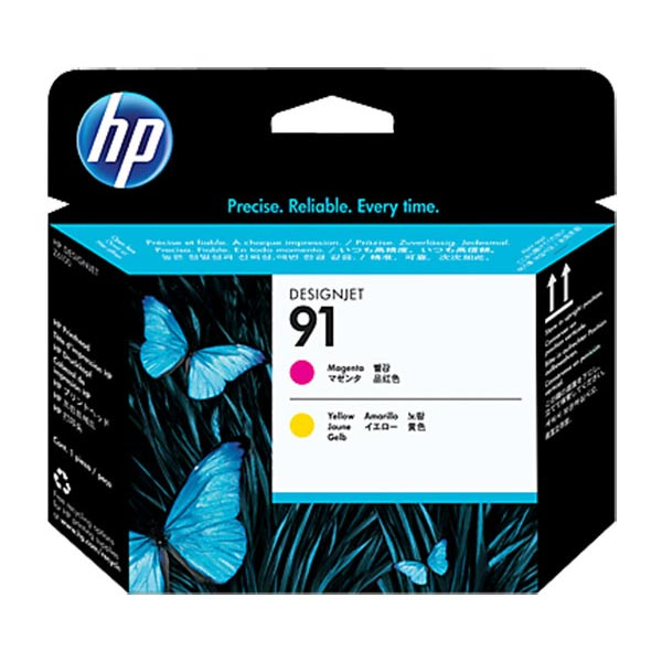 HP 91 Magenta and Yellow Printhead