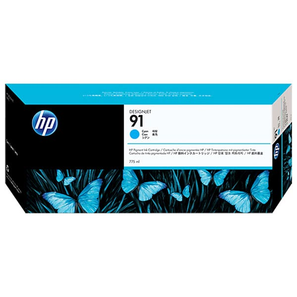 HP 91 Cyan Ink Cartridge (775 ml)