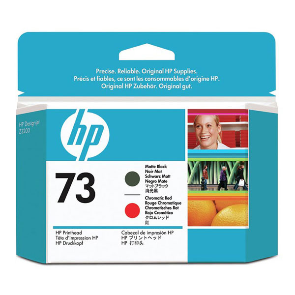 HP 73 Chromatic Red and Matte Black Printhead