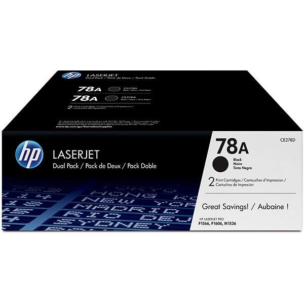 HP LaserJet P1606/M1536 Dual Pack Print Cartridge