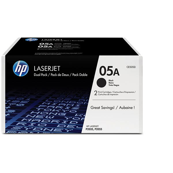 HP LJP P2035/P2055  Dual Pack Black Print Cartridge