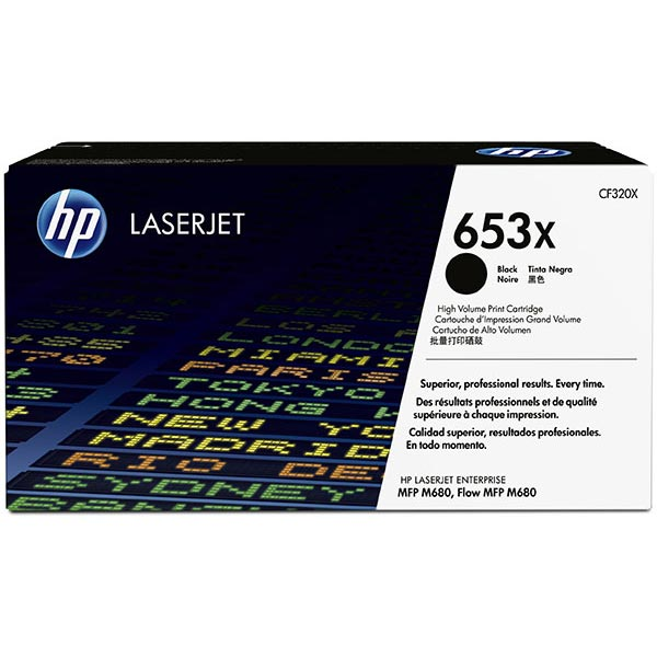 HP CLJ Ent MFP M680 Black 653X High Yield Toner Cartridge
