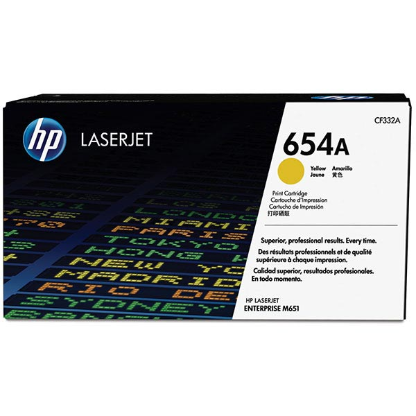 HP CLJ Ent M651 Yellow 654A Toner Cartridge