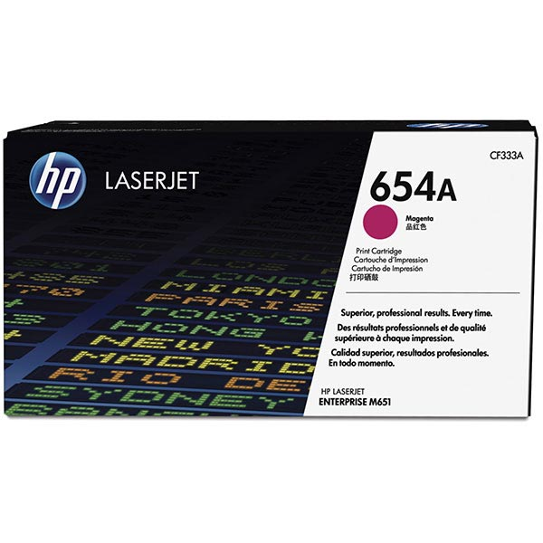 HP CLJ Ent M651 Magenta 654A Toner Cartridge