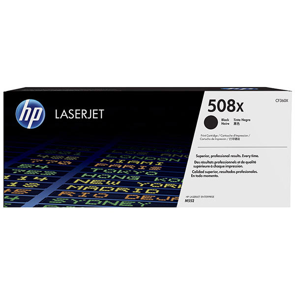 HP CLJ M553 508X Black High Yield Toner Cartridge