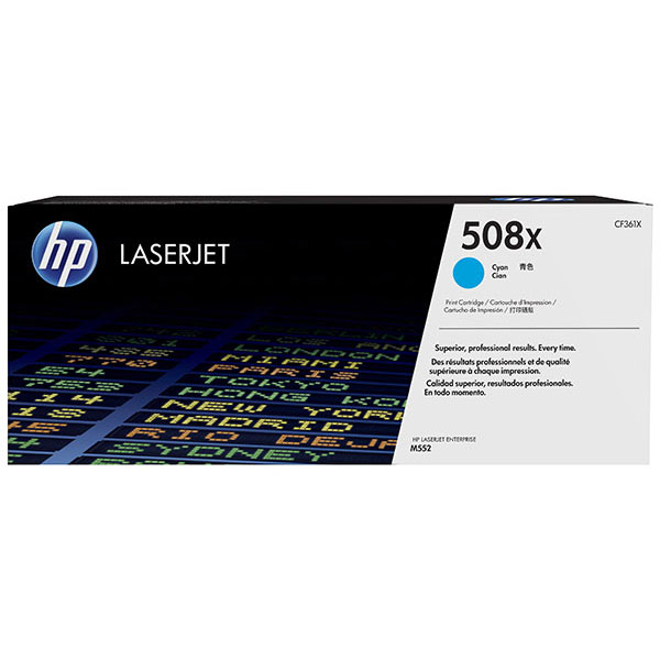 HP CLJ M553 508X Cyan High Yield Toner Cartridge