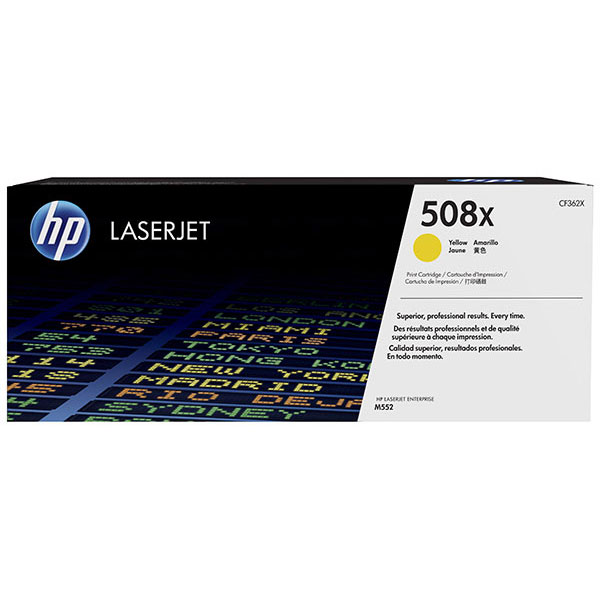 HP CLJ M553 508X Yellow High Yield Toner Cartridge