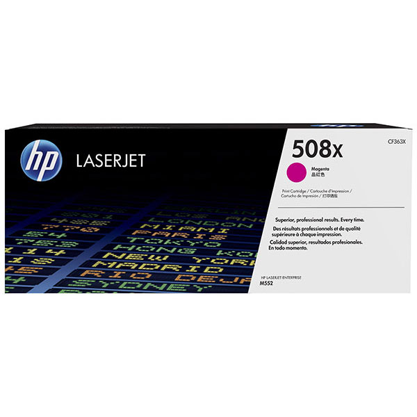 HP CLJ M553 508X Magenta High Yield Toner Cartridge