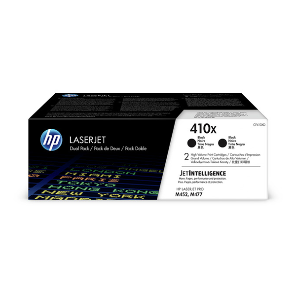 HP CLJ Pro M452/MFP M477 (410X) High Yield Black - 2 Pack