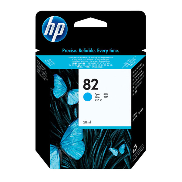 HP 82 Cyan Ink Cartridge (28 ml)
