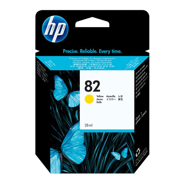 HP 82 Yellow Ink Cartridge (28 ml)