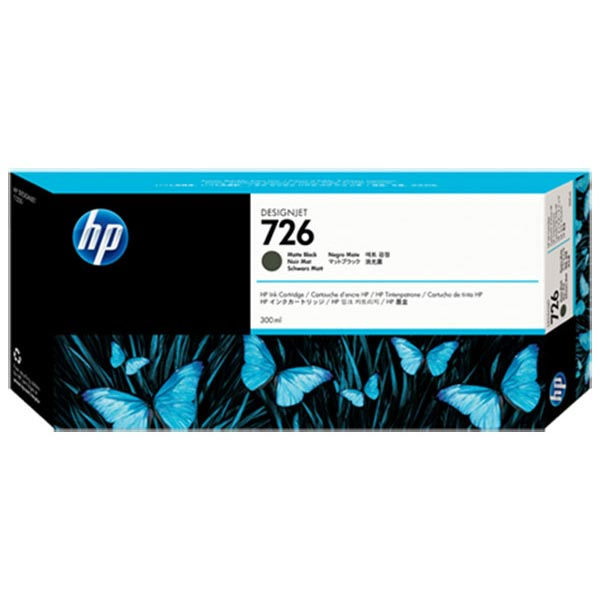 HP 726 Matte Black Ink Cartridge (300 ml)