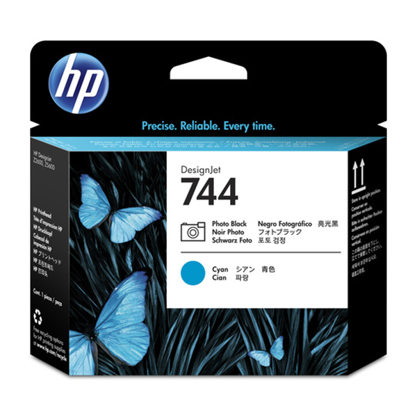 HP 744 Photo Black& Cyan DesignJet Printhead