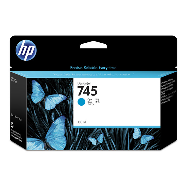 HP 745 130-ml Cyan DesignJet Ink Cartridge
