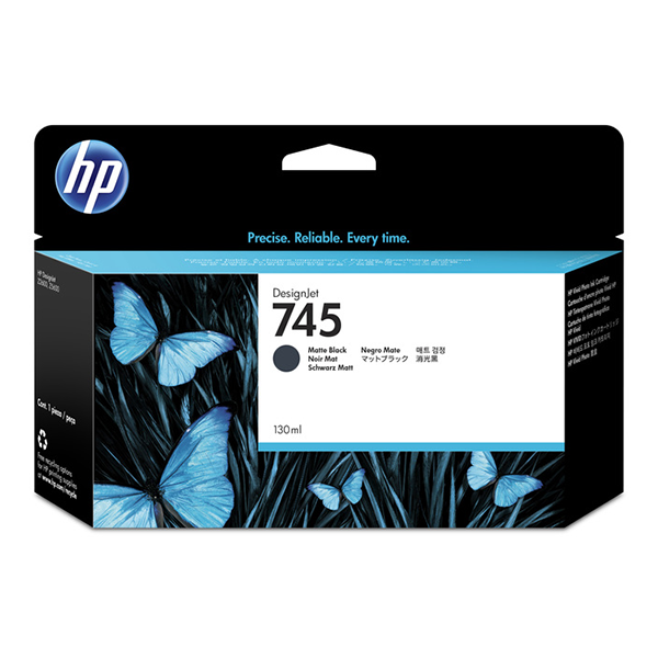 HP 745 130-ml Matte Black DesignJet Ink Cartridge