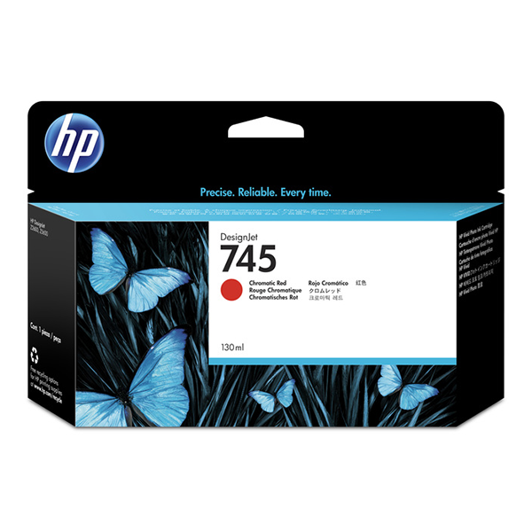 HP 745 130-ml Chromatic Red DesignJet Ink Cartridge