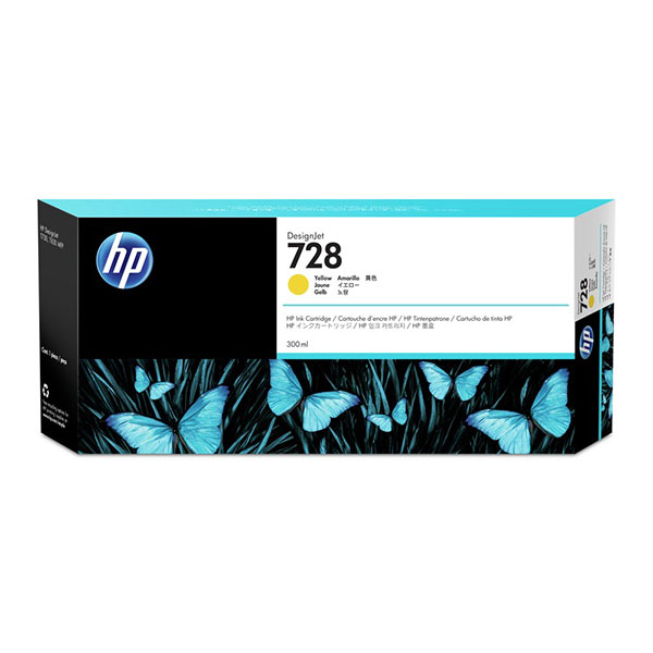 HP728 300-ml Yellow DesignJet Ink Cartridge