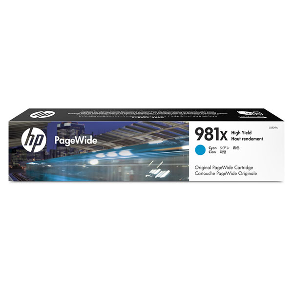 HP 981X High Yield Cyan Original PageWide Cartridge