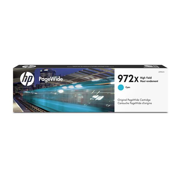 HP 972X High Yield Cyan Original PageWide Cartridge