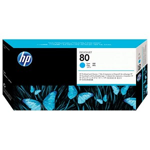 HP 80 Cyan Printhead/Printhead Cleaner