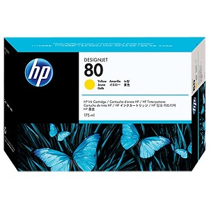 HP 80 Yellow Ink Cartridge (175 ml)