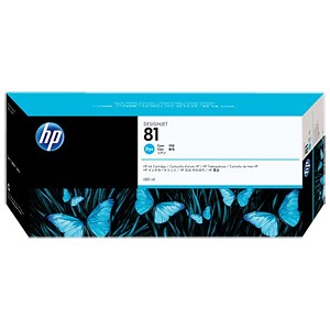 HP 81 Cyan Dye Ink Cartridge (680 ml)