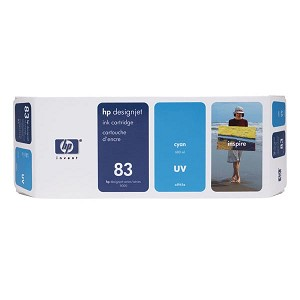 HP 83 Cyan UV Ink Cartridge (680 ml)