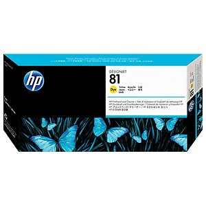 HP 81 Yellow Dye Printhead and Cleaner