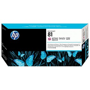 HP 81 Light Magenta Dye Printhead and Cleaner