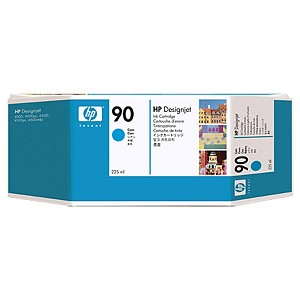 HP 90 Cyan Ink Cartridge (225 ml)