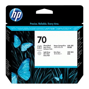 HP 70 Photo Black and Light Gray Printhead