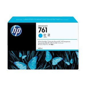 HP 761 400-ml Cyan Designjet Ink Cartridge