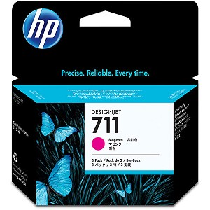 HP 711 3-pack 29-ml Magenta Designjet Ink Cartridge
